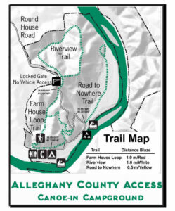 Alleghany Access Trail Map